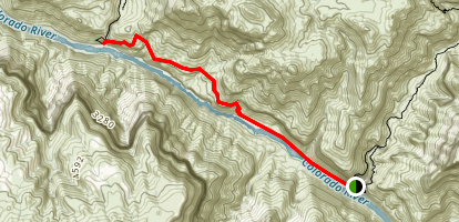 Tapeats Creek to Deer Creek Map