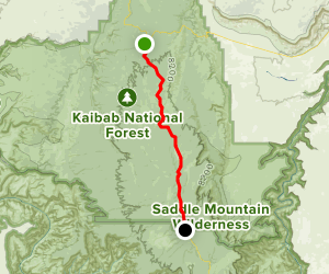 Kaibab Plateau - North Rim Parkway: Jacob Lake to Grand Canyon North Rim Map