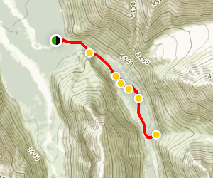 East Fork Trail and Tulchina Falls Map