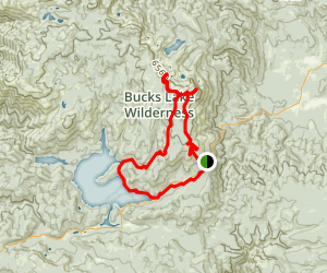 Bucks Lake Wilderness Loop Trail Map