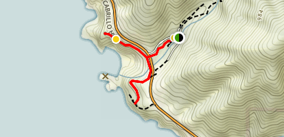 Overlook Trail to McWay Falls and Saddle Rock Map