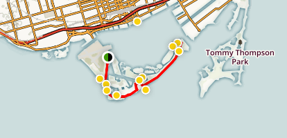 Toronto Islands Trail Map