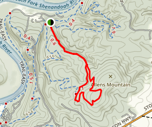 Allen's Mountain Trail Map