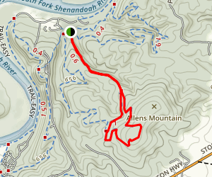 Allen's Mountain and Campbell's Jump Trail Loop Map