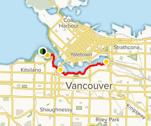 Vancouver Family-Friendly Walking Tour Map