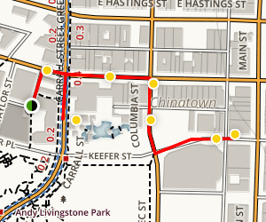 Chinatown Neighborhood Tour Map