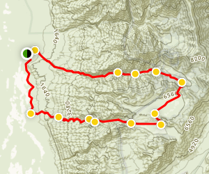 Pleasant Canyon Loop Trail Map