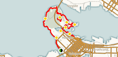 Coal Harbour Via Stanley Park Trail Map