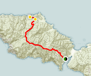 Two Harbors to Parsons Beach Trail Map