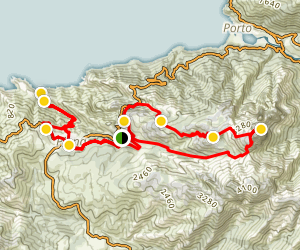 Piana, Chemin Muletier, Capo d'orto and Ficajola  Loop  Map