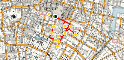 Walking Tour of Georgian Dublin Map