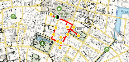 City Map Of Dublin Ireland.Walking Tour Of Georgian Dublin County Dublin Ireland Alltrails