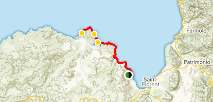 Saleccia Beach Trail Map