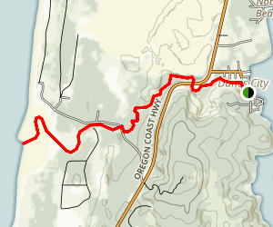 Siltcoos River Map
