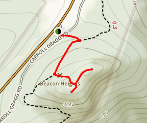 Beacon Heights Trail to Grandfather View Map