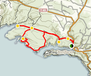 Bonifacio Beaches Trail Map