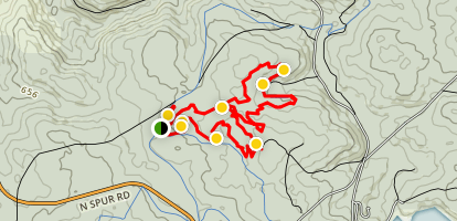 Turner Hill Mountain Bike Track Map