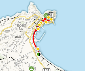 Map Of Northern France Coastline.Calvi Walking Tour The Beach To The Citadel Corsica France