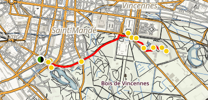 12th Arondissement City Walk Map
