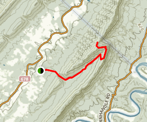 Veach Gap Trail Map