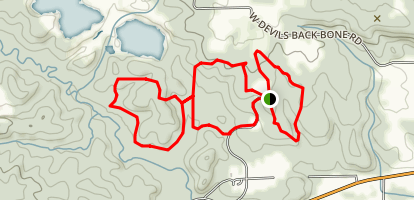 Castle Rock North Trails Map