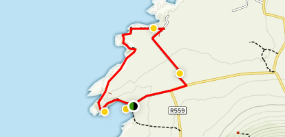 Clogher Beach Loop Map