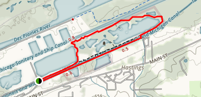 Heritage Quarries Recreation Area I&M Canal Trail Loop Map