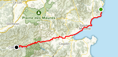 Saint Aygulf - Grimaud - Collobrieres (Col de Taillude) Map