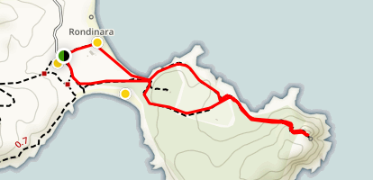 Rondinara Beach Trail Map