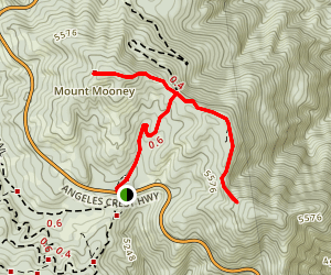 Charlton Station to Mt. Mooney and Devil's Peak Map
