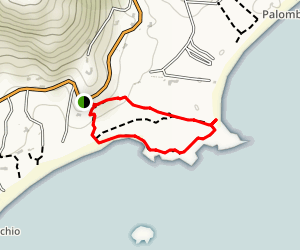 Tamaricciu Beach Trail Map