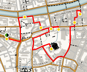 Dublin Walking Tour  Map