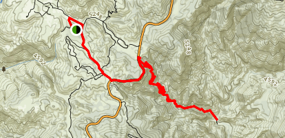 Chilao to Devil's Canyon Trail Map