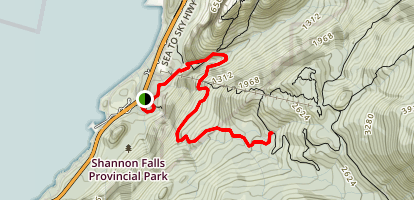 Upper Shannon Falls Map