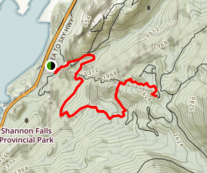 Sea to Summit/Upper Shannon Falls Trail Map