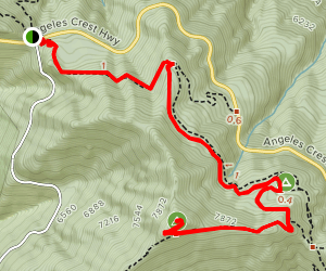 Islip Saddle to Little Jimmy Campground and Mt. Islip Map
