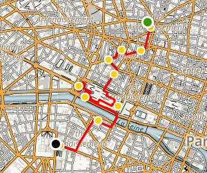 The Impressionists Walking Tour Map