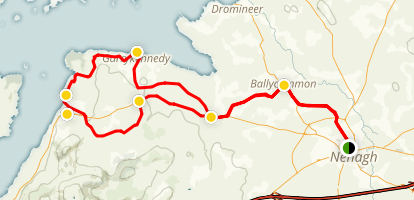 Nenagh to Garrykennedy Cycling Tour Map