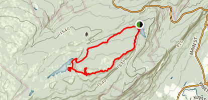 Awosting and Castle Point Trail Loop Map