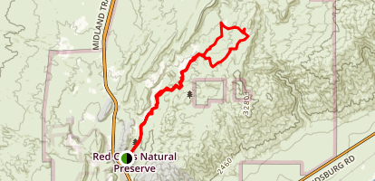 Nightmare Gulch Overlook Trail Map