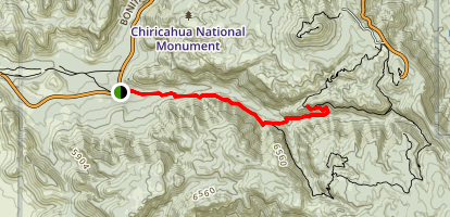Rhyolite Canyon Trail Map