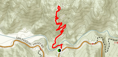 Clevenger Canyon-San Pasqual North Trail Map