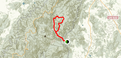 Catlett Mountain Map