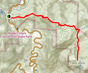 Table Rock Trail Map