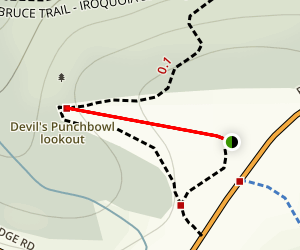 Devil's Punch Bowl Trail Map