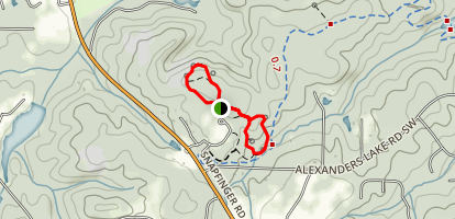 Rock Outcrop and Watershed Trail Map