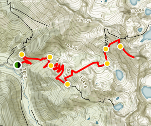 Sawtooth Pass Trail Map