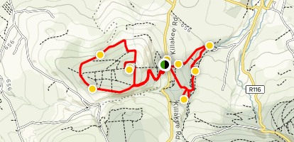 Hell Fire Club and Massey Woods Loop  Map
