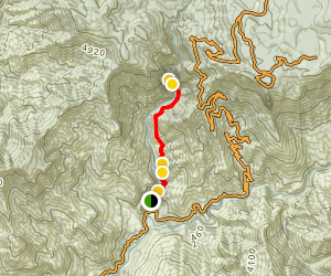 Marble Fork Trail to Marble Falls Map