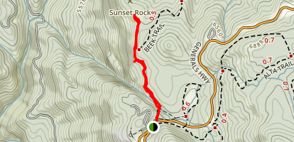 Sunset Rock Map